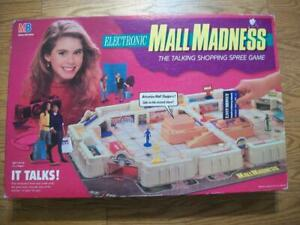 USED 1989 ELECTRONIC MALL MADNESS BOARD GAME by MILTON BRADLEY