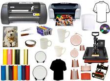 "8in1 Heat Press,13"" METAL Laser Point Vinyl Cutter Plotter,Printer,Refil,Mug PK"