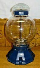 Old Blue Simpson Leebold Cast Iron 1 Cent Look 6 Balls 3 Cents Gumball Machine