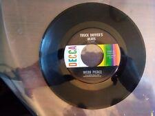 1960 vg+RARE Webb Pierce Fallen Angel / Truck Driver's Blues  9-31165  45