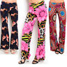 Women palazzo pants wide leg floral summer casual yoga party