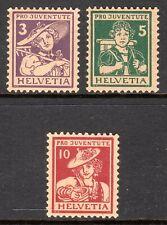 Switzerland - 1916 Pro Juventute / Folk Dresses -  Mi. 130-32 MNH