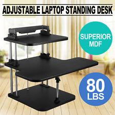3 Tier Adjustable Computer Standing Desk Superior MDF Workstation Adjustable