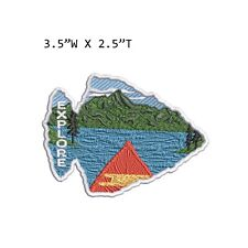 New ListingExplore Mountain Lake Embroidered Patch Iron-on / Sew-on Nature Applique
