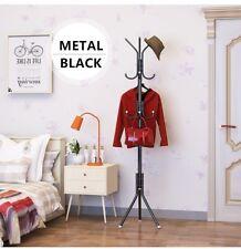 Coat Stand Hat Clothes Jacket Umbrella Free Standing Rack Hanger Metal 12 Hooks