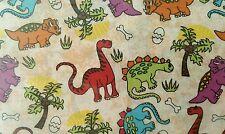 Small dinosaurs on cream