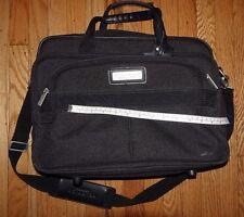 Kenneth Cole Reaction Black Briefcase Messenger Bag Laptop Case UNISEX