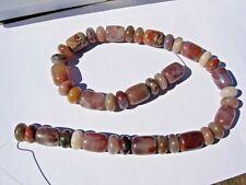 New listing 94.8 gram Henry Mountain Petrified Wood Beads 14x12mm + 12x7mm - 16 inch strand