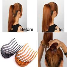 2PC Fashion Hair Styling Clips Comb Stick Bun Maker Braid Tools Hair Accessories