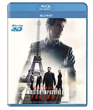 Mission Impossible Fallout 3D Blu Ray DISC ONLY ! All Region  - English - Rare !