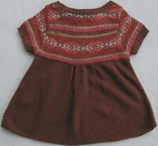 NWT Guess Girls Brown Short Sleeve Sweater(Size Large/6X) MSRP$39.50 NEW