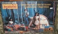 PLAYSET WALT DISNEY VINTAGE POCAHONTAS,VILLAGGIO INDIANO INDIAN POWHATAN VILLAGE