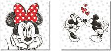 2 er Set Disney Bilder Wandbild Keilrahmen Micky Minni Maus Art. CSWD 580 / 583