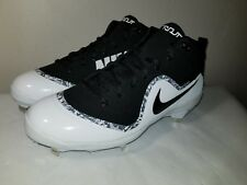 Nike Mens Size 12 Force Zoom Trout 4 Black / White Baseball Metal Cleats