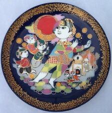 """Bjorn Wiinblad 1982 Aladin plays with the street urchins 6"""" plate Rosenthal"""