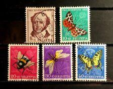 Switzerland Scott's #B237-241, semi-postal, used