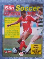 1989 - THE SUN SOCCER COLLECTION ALBUM - EMPTY - 89/90 - INC CENTRE PAGE PULLOUT