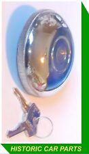 """Locking Fuel Period 3 1/4"""" Dia Petrol Cap & Keys for MG Midget Mk2 1964-66"""