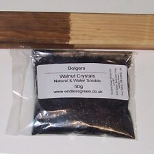 Bolgers Natural Water Soluble Brown Wood Dye Powder - Walnut Crystals 50g