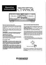 Bedienungsanleitung-Operating Instructions für Pioneer CT-W910R