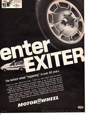 1970 MOTOR EXITER WHEEL / CHALLENGER ~ ORIGINAL PRINT AD