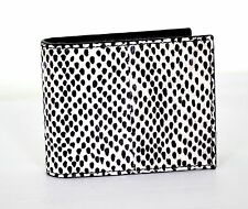 ALEXANDER McQUEEN MEN'S POLKA DOT SNAKE SKIN BIFOLD WALLET MONEY CLIP BNWT BOX