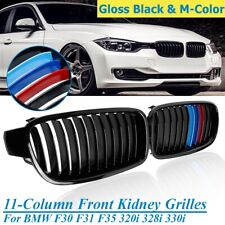 Pair M Gloss Black Grill Grille For BMW F30 F31 F35 320 325i 328i 330i 2012-2018