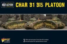 Warlord Games Char B1 Bis Platoon 28mm French German Tanks WW2 Bolt Action