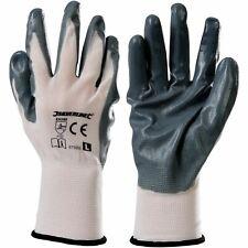 Silverline 675069 Nylon Nitrile Coated Gloves Gardening Mechanics Safety