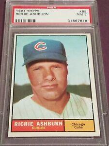 1961 Topps Richie Ashburn HOF PSA 7 #88