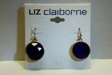 "Pair Silver Tone - LIZ Claiborne ""Dangle"" Ear Rings - Purple Plastic / NEW!!!"