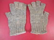 post-WWII Sweden Army Wool Military Gloves - Open Fingers - Sz Medium - Unissued