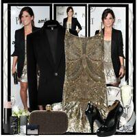 All Saints Eagle Sequin/Embellished/Beaded Dress Black Size UK 8 BNWT £350