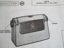 ZENITH J504 RADIO PHOTOFACT
