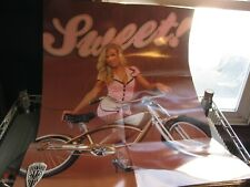 Vintage Bicycle Poster of Sexy Waitress with So-Cal Kustom Kruiser Bike