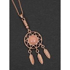 Rose Quartz Dreamcatcher Necklace, Stunning, Stylish, Quality, Women 274592