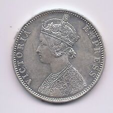 1901 British India Silver One Rupee--Fabulous Hair & Crown Details !!
