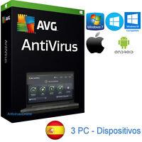 AVG ANTIVIRUS 2018 3PC-MAC - ORIGINAL GARANTIZADO - ENVIO POR EMAIL