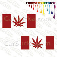 "2 of 8"" Canada Flag Pot /A Marijuana Weed Leaf car vinyl stickers decals die cut"