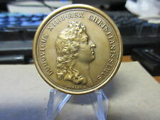 Louis XIV Minerva Locupletatrix / Mauger French Medal Bronze 42mm early restrike