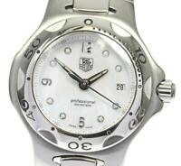 TAG HEUER Kirium Date WL131B Shell white Dial Quartz Ladies Watch_601807