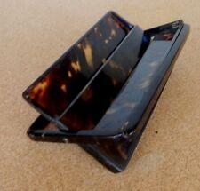 Art  Deco Celluloid  Cigarette Case mottled Brown finish 13.5cm x 8.5cm