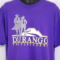 Durango Trailblazers T Shirt Vintage 90s High School Made In USA Size XL