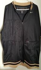 Black Nike Lebron Signature Collection Short Sleeve Lined Jacket XL 100% Nylon