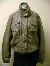 Collezione Faux Leather Motorcycle Jacket Grey XL NWT