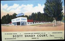 Winnemucca Nevada ~ 1940's Scott Shady Court Motel ~ Highway U. S. 40