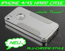 Apple iPhone 4 4s Carcasa Aluminio Funda Rígida Cromo Metal