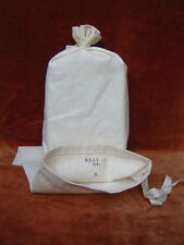 White cotton Ration Bag or Mess Tin Cover British Army WW2