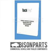 *Tachpro PSV Public Service Vehicle Inspection Maintenance Pad Bus/Coach 100211