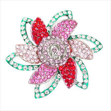 Flower Floral Motif Cocktail Rings Crystal Multicolor Costume Jewelry Party New
